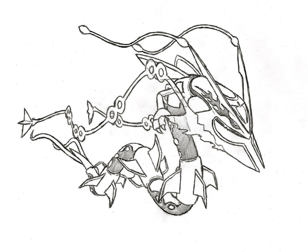 Mega rayquaza by xxd17 on deviantart for Rayquaza coloring pages