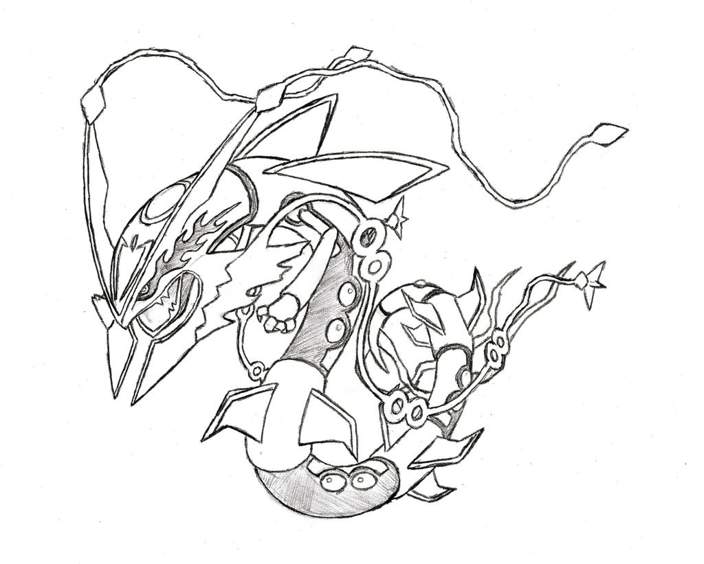 photos bild galeria pokemon mega rayquaza coloring pages