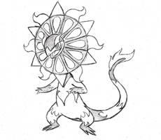 Project Fakemon: Mega Heliolisk by XXD17