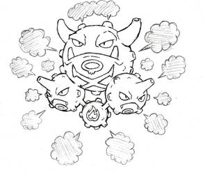 Project Fakemon: Mega Weezing by XXD17