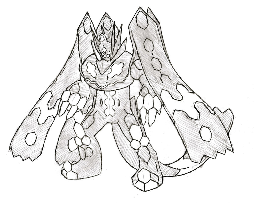 pokemon zygarde coloring pages - photo#15