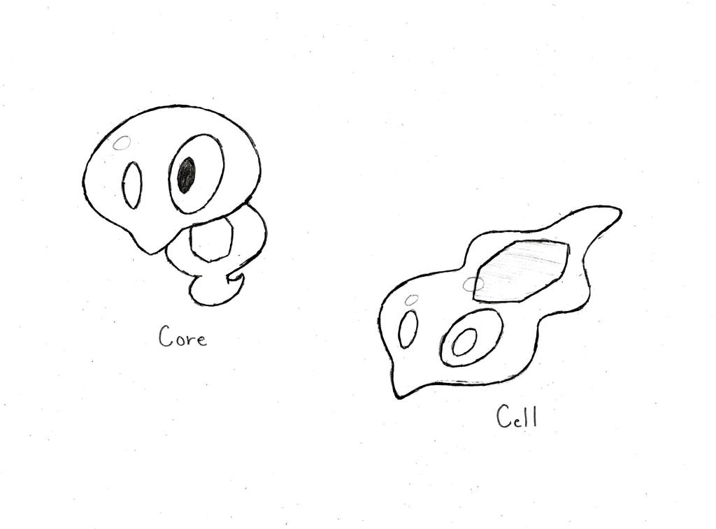 Zygarde Core and Zygarde Cell by XXD17 on DeviantArt