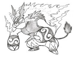 Project Fakemon: Mega Emboar by XXD17