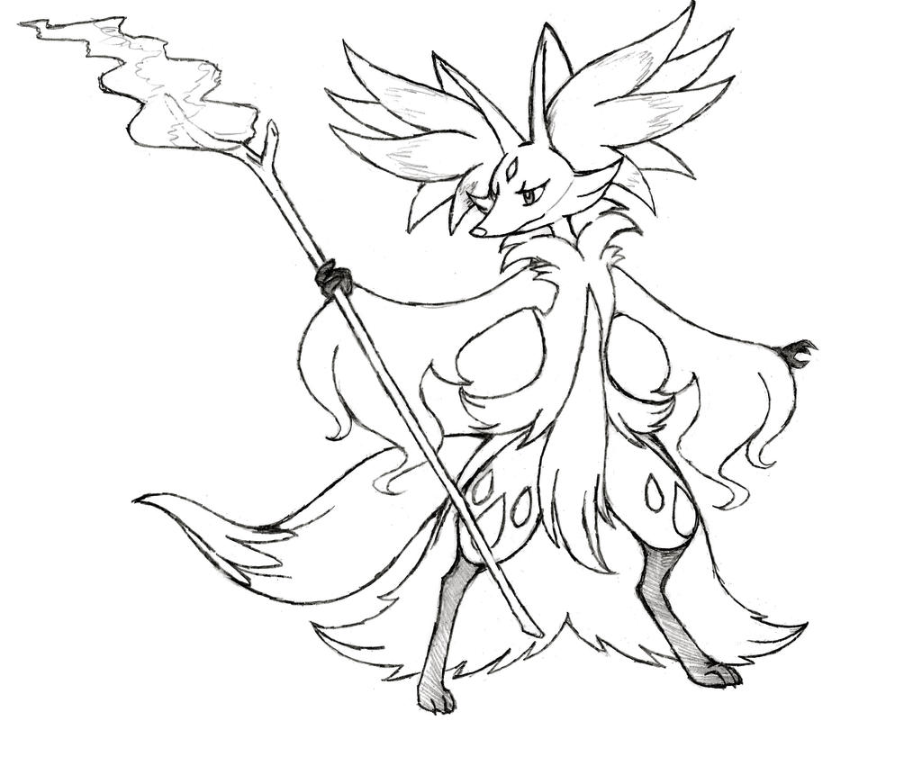 Project Fakemon Mega Delphox by
