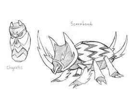 Project Fakemon: Chrycellis and Scarabsorb by XXD17