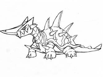 Project Fakemon: Tortitanic (or Keelydrark)