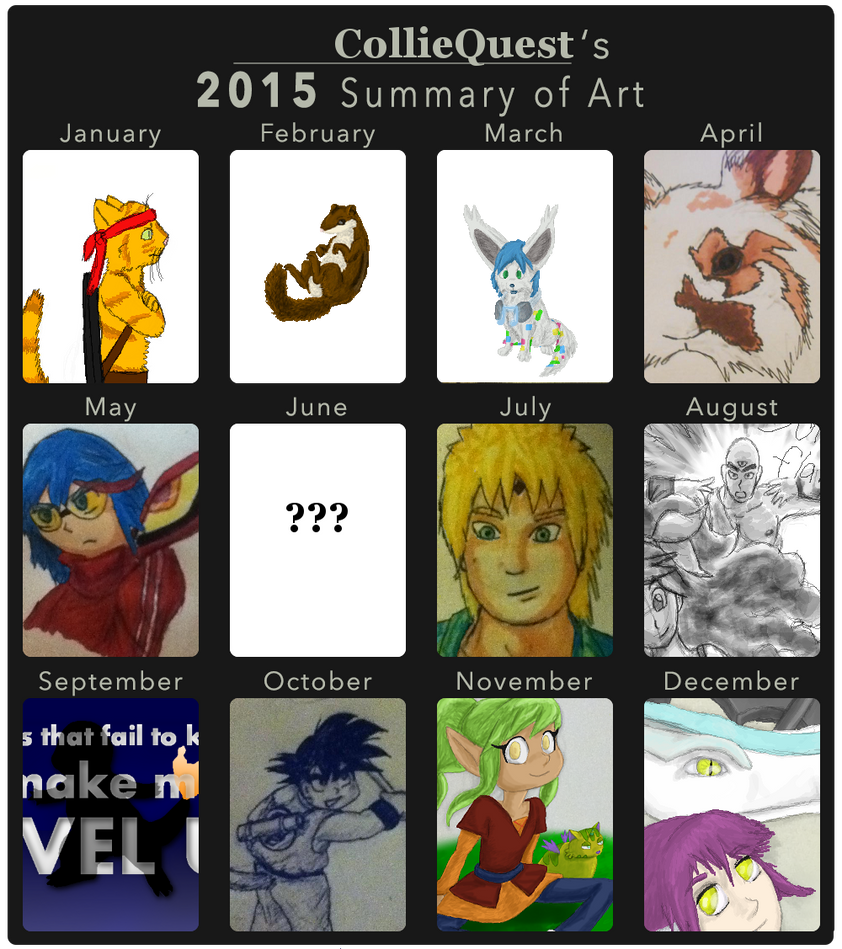 2015 Summary of Art by Colliequest