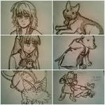 Twitter sketches by Colliequest