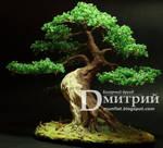 Beaded tree - Night Lamp Bonsai in sharimiki-style