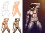 Sexy Underwear - My painting process