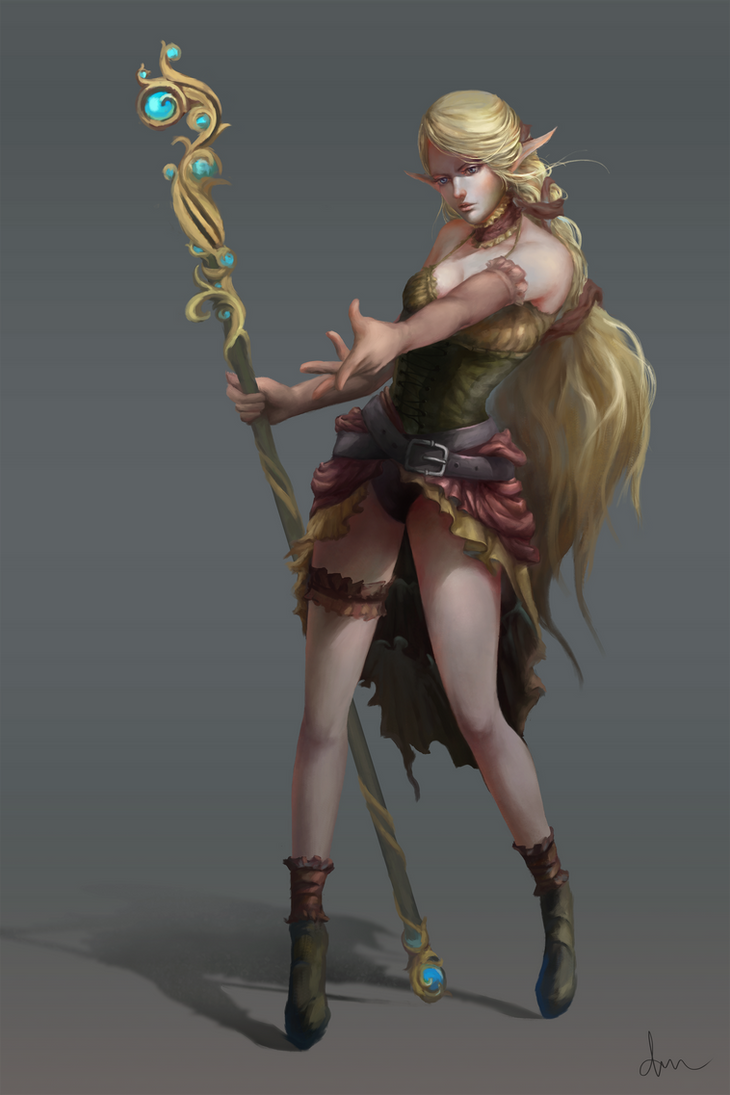 High Elf Wizard concept by daimoc-art