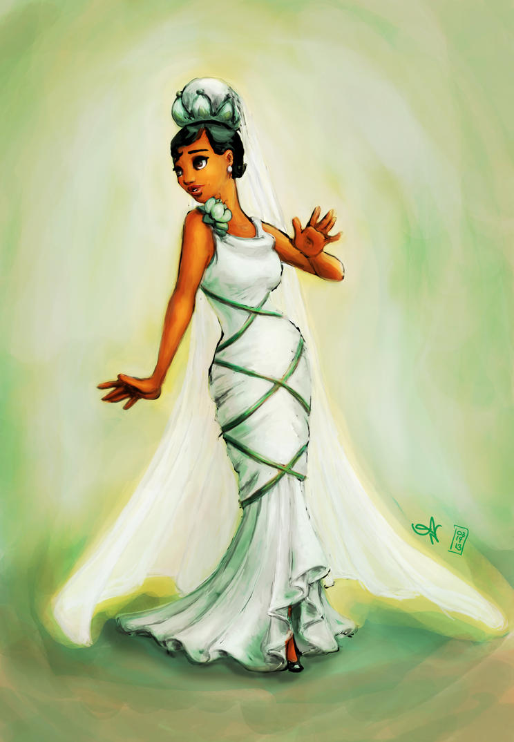 Tiana's Wedding Dress by kayananas