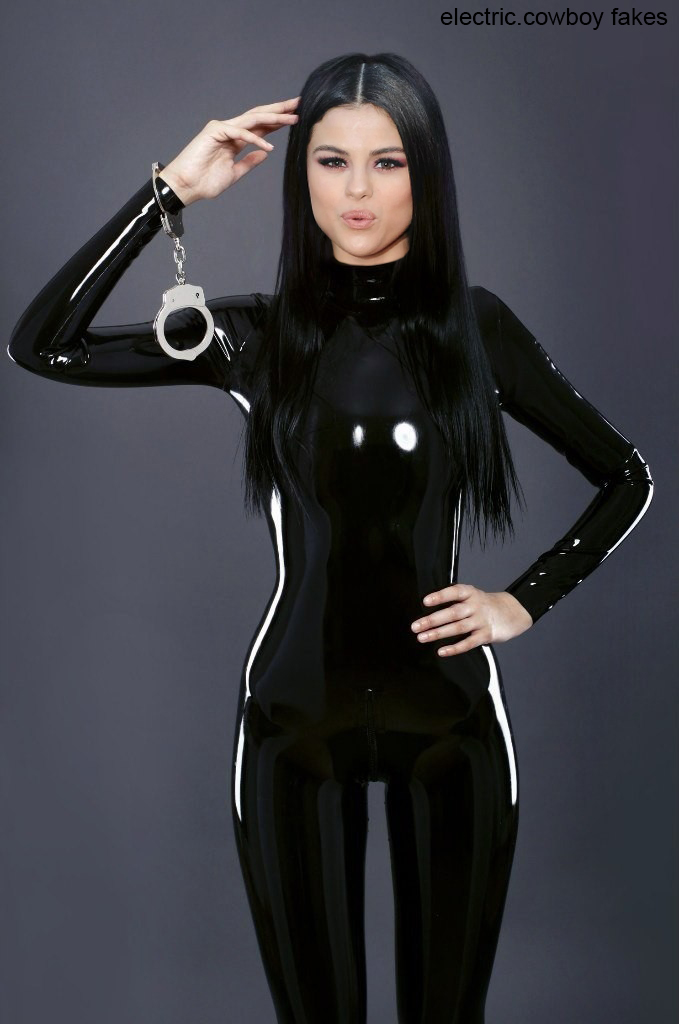 Selena Gomez handcuff latex by ElectricCowboyBCN on DeviantArt