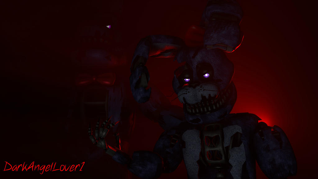 Nightmare Bonnie and Nightmare Lucia by DarkAngelLover1