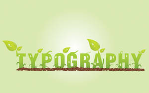 typograph in green