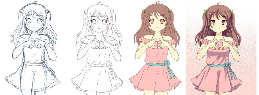 my art progress by Moe-love-chu