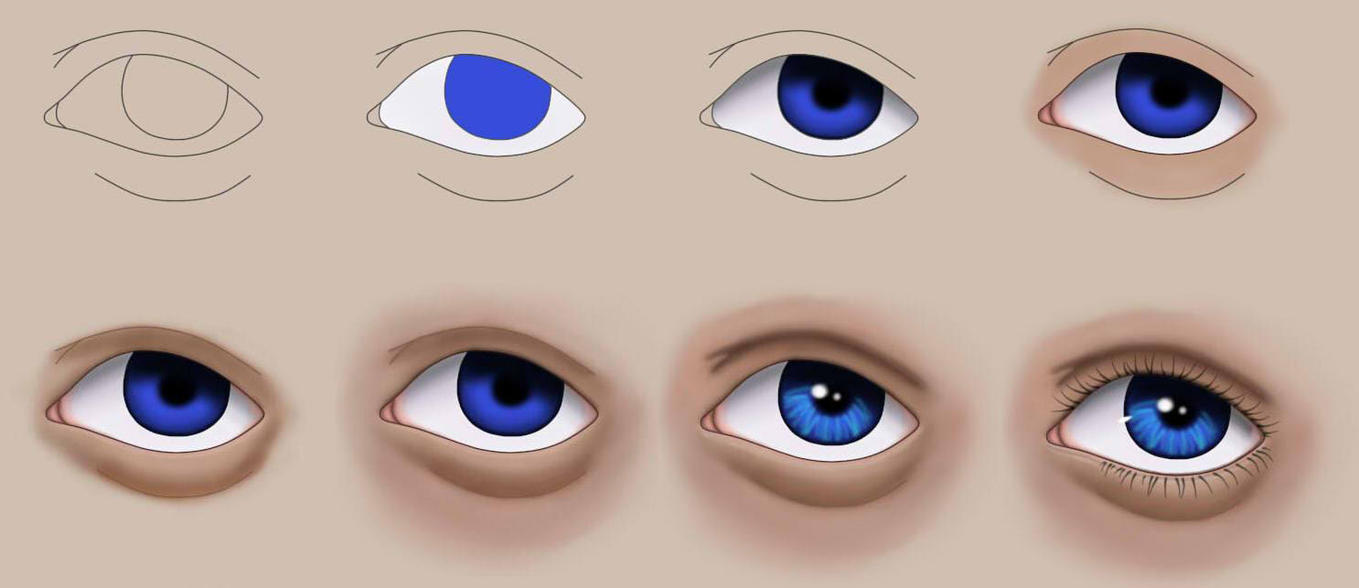 How To Do Semi Realistic Eyes In Paint Tool Sai