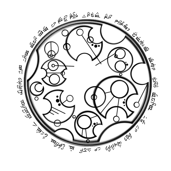 Aeneid in Gallifreyan and Elvish by alden-r on DeviantArt