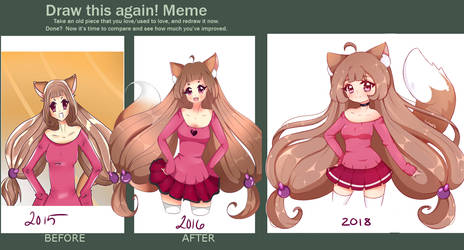 Draw this again 2018 ~ by Luludia