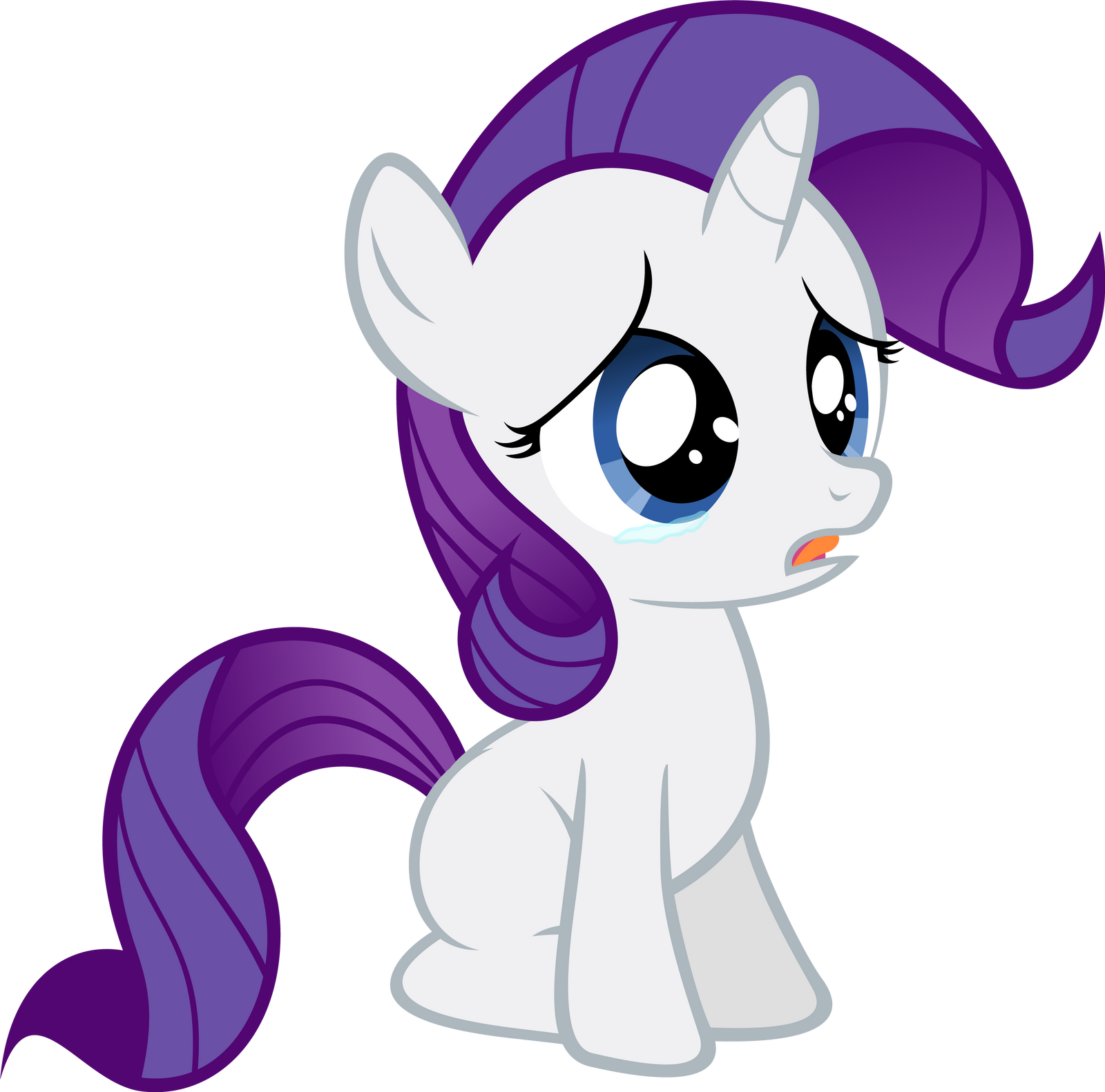 Filly Rarity - Sad by Ocarina0fTimelord on DeviantArt