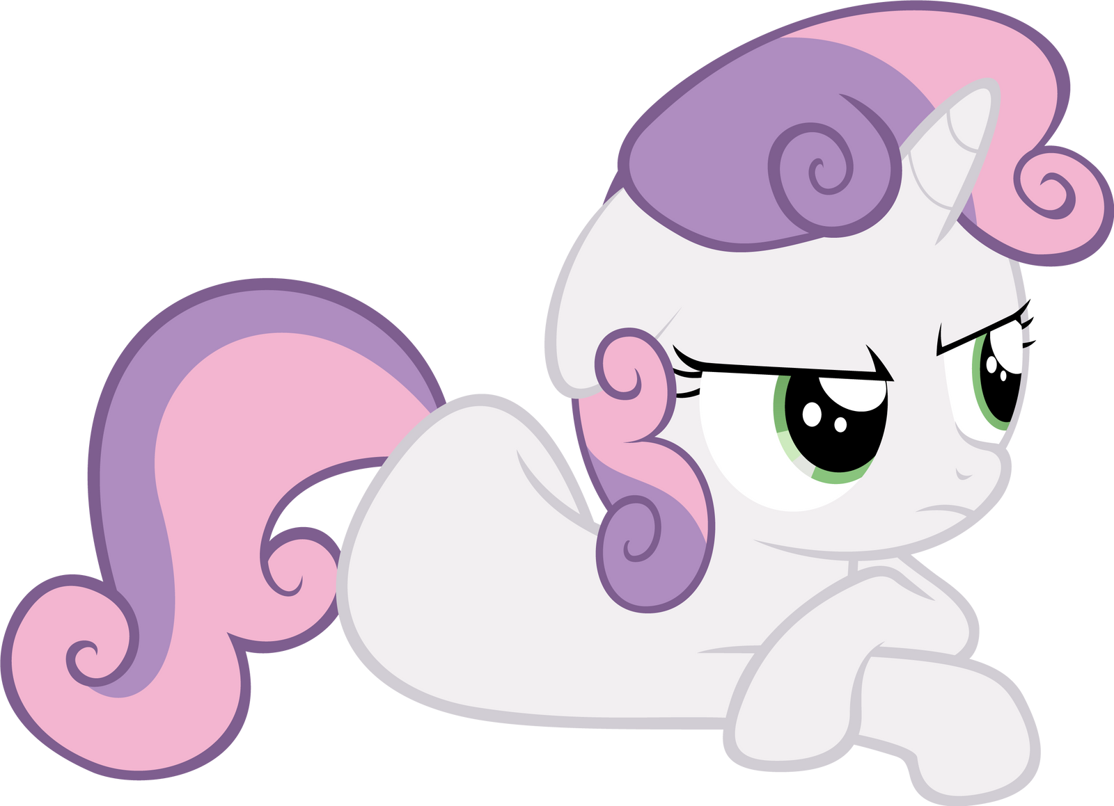 Sweetie Belle Disapproves by Ocarina0fTimelord