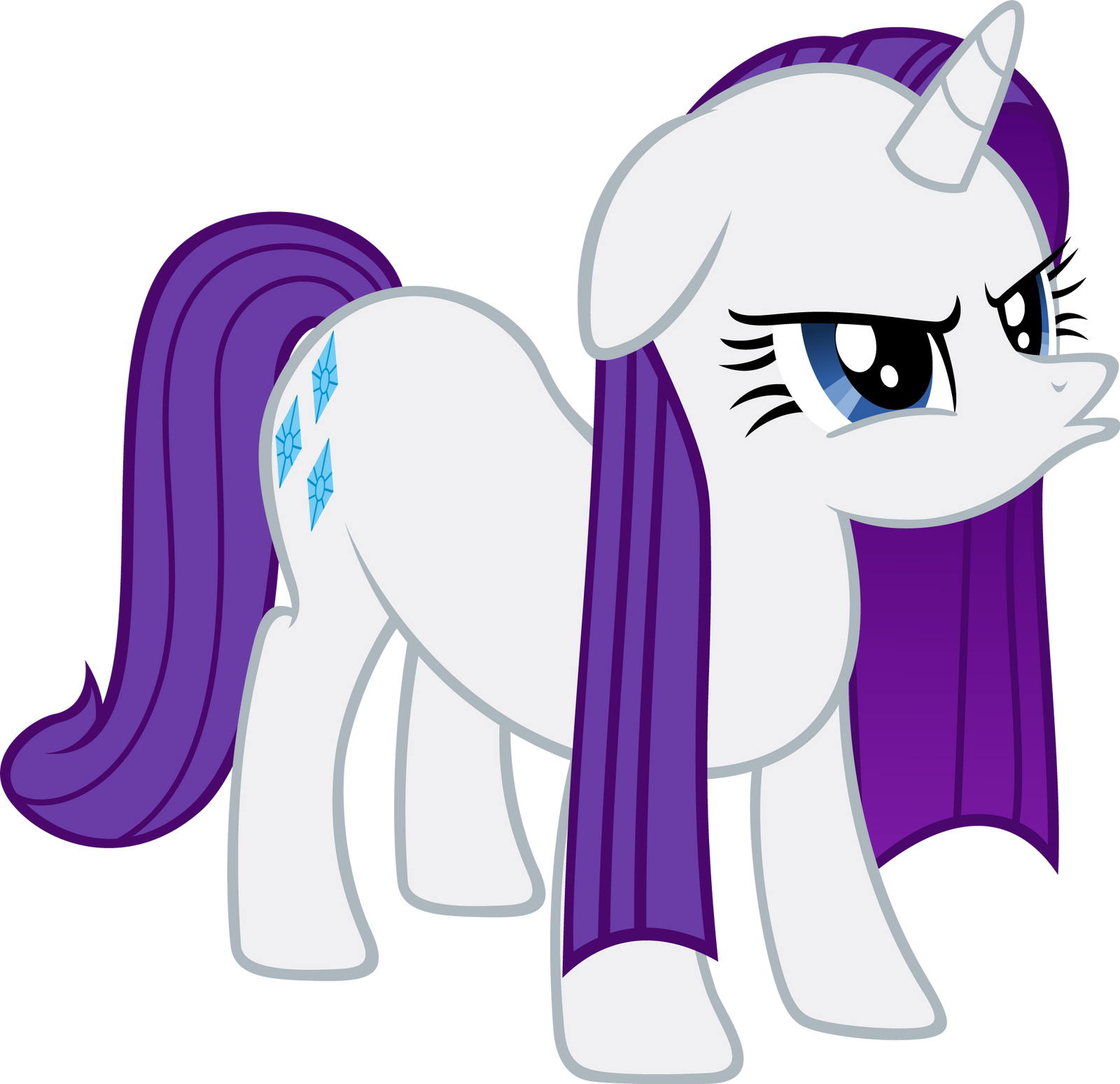 Rarity - Displeased by Ocarina0fTimelord