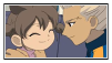 Gouenji and Yuuka stamp by Monkeychild123