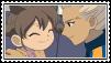 Gouenji and Yuuka stamp by Monkeychild123