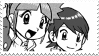Hajime and Hitomi Stamp 2 by Monkeychild123