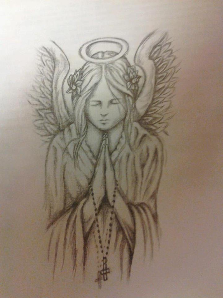 Pin Drawings Angels Praying Pictures on Pinterest