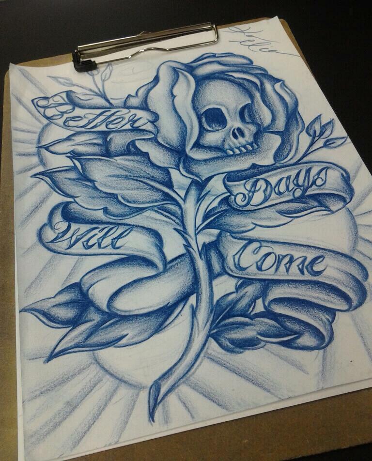 skull by KaraMiaTattoos