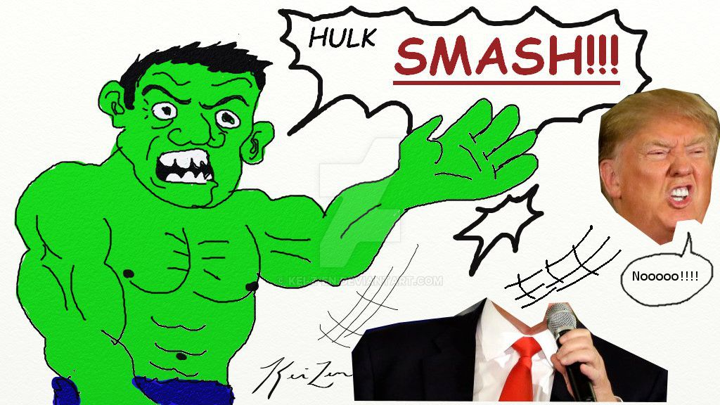 Hulk smash Trump by Kei-z-en