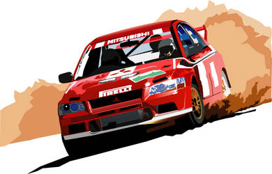 WRC Mitsubishi Lancer by k0nsoulDesigns