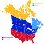 North America Alternate History Map