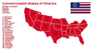 Commonwealth States of America Map