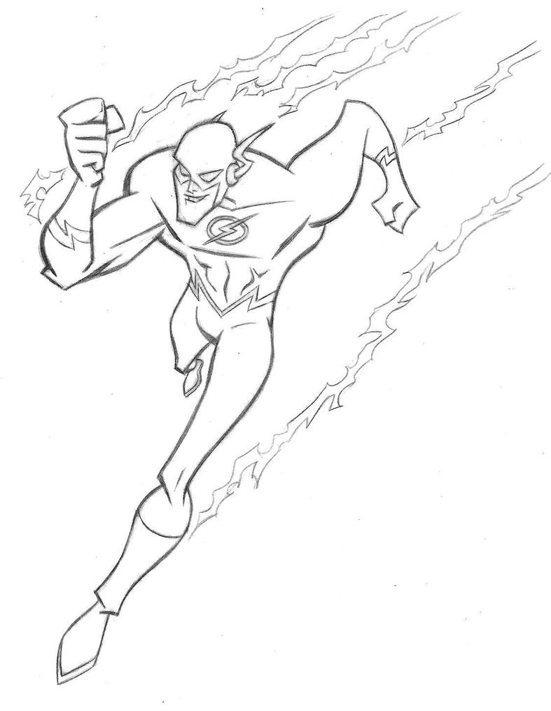 pin up flash running by stephenbjones - Flash Running Coloring Pages