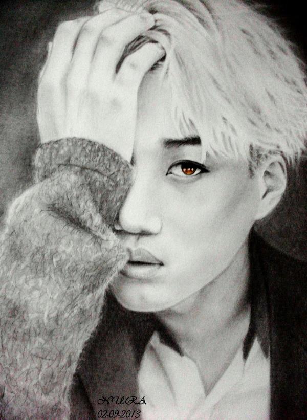 exo kai drawing by diamondnura on deviantart