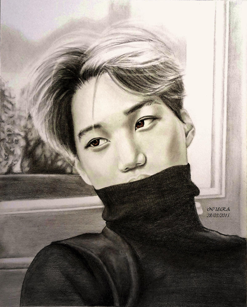 KAI - Hazel Eyes (drawing) by diamondnura