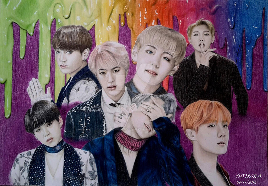 BTS - Blood Sweat + Tears (Colour Pencils) by diamondnura