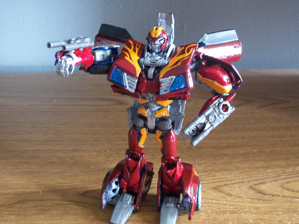 Custom Transformers Prime Hot Rod Action Pose By Ford05 On