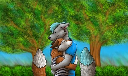 Fox Friends by Tienala