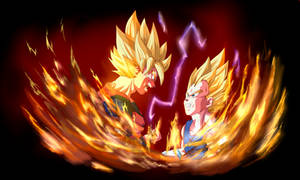 Goku VS Vegeta by xenocracy