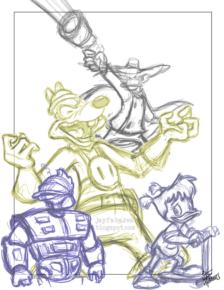 Darkwing Duck WIP by FutureDwight