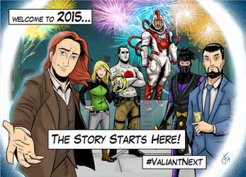 Valiant Comics New Years by FutureDwight