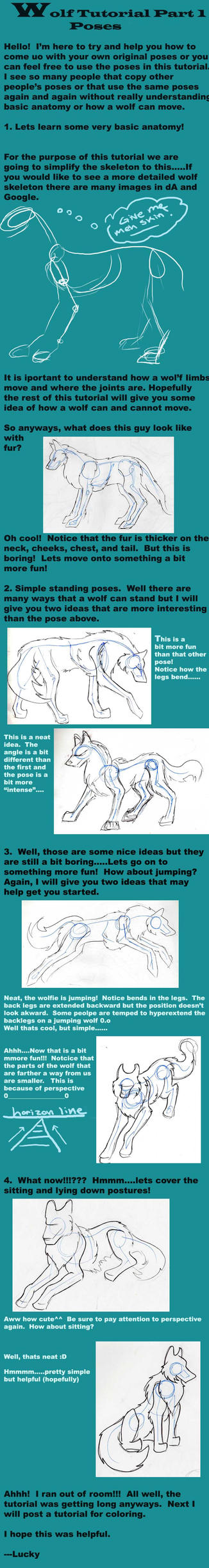 Wolf Tutorial Part 1- Poses by Lucky978