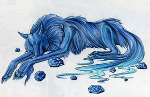 Sapphire Wolf by Lucky978
