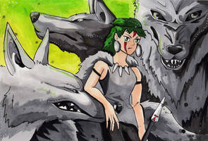 Prinsess Mononoke--Wolf Tribe by Lucky978