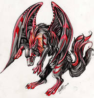 Flying Demon Wolf by Lucky978