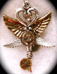Four Wing Steampunk Pendant