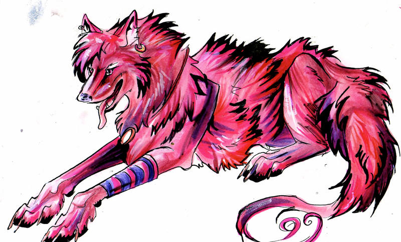 Pink Wolf by Lucky978 on DeviantArt